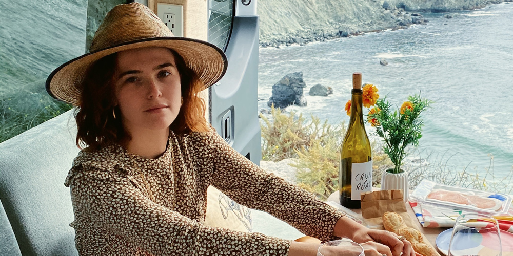 Zoey Deutch Takes RV Trip to California's Redwood Forest