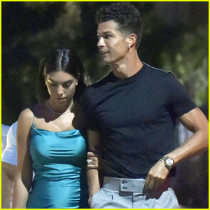 Cristiano Ronaldo & Girlfriend Georgina Rodriguez Couple Up for Date Night in Italy