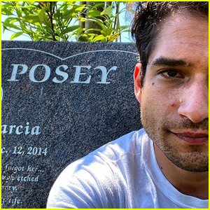 Tyler Posey Visits His Mother's Grave on Her Birthday