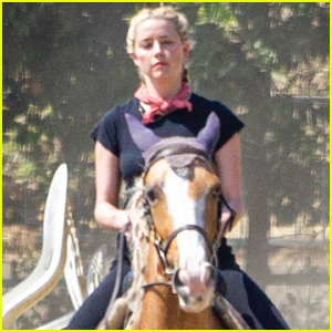Amber Heard Spends the Afternoon Horseback Riding!