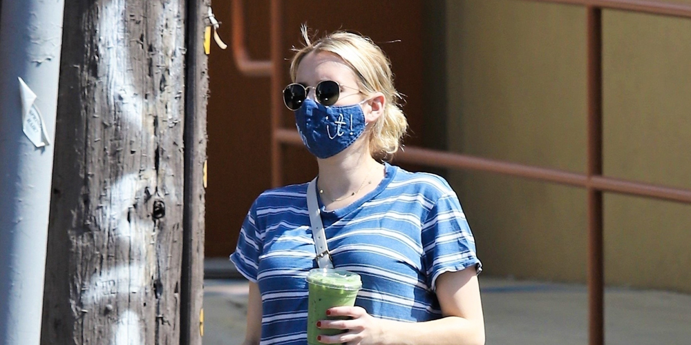 Emma Roberts Makes a Veggie Smoothie Run in LA