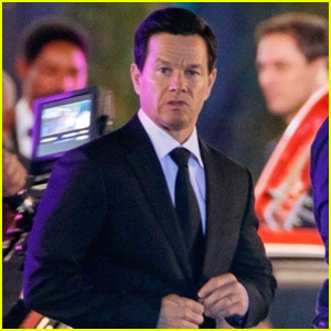 Mark Wahlberg Suits Up While Filming 'Uncharted' in Berlin