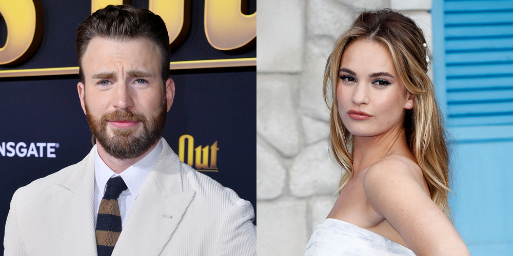 Lily James Is Asked About Chris Evans & Her Response Included a 'Suggestive Smile'