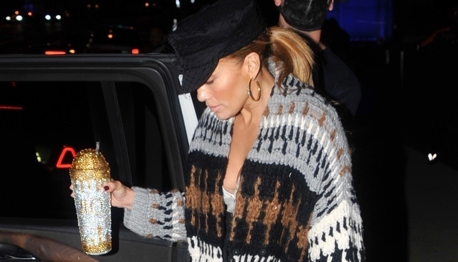 Jennifer Lopez Brought Her Bedazzled Water Bottle Along for Night Out in L.A.