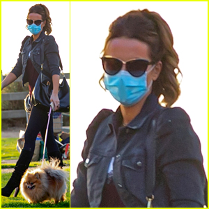 Newly Single Kate Beckinsale Steps Out for Walk with Her Dog