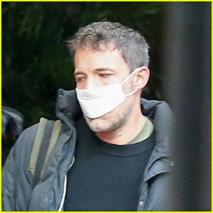 Ben Affleck Wears Tiny Mask While Leaving Hotel With Girlfriend Ana de Armas