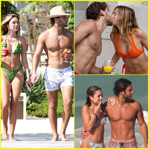 Delilah Belle Hamlin Packs on PDA with Boyfriend Eyal Booker During Trip to Mexico