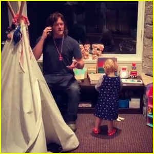 Diane Kruger Shares Adorable Video of Norman Reedus Singing With Their Daughter on Thanksgiving