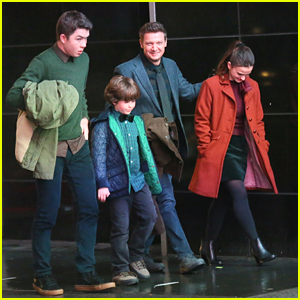 'Hawkeye' Jeremy Renner Takes Clint Barton's Kids To The Movies While Filming in NYC