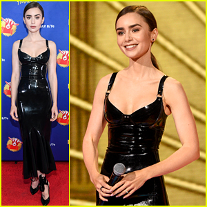 Lily Collins Stuns in Latex Dress at MTV Movie & TV Awards 2020!