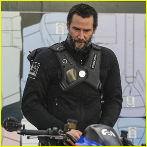 Keanu Reeves Preps For A Motorcycle Ride in LA