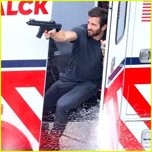These Set Photos from Jake Gyllenhaal's Action Scene for 'Ambulance' Are So Intense!