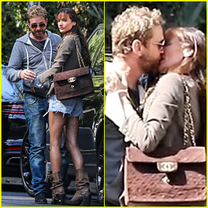 Gerard Butler & Morgan Brown Confirm They're Back Together in New PDA-Filled Photos!