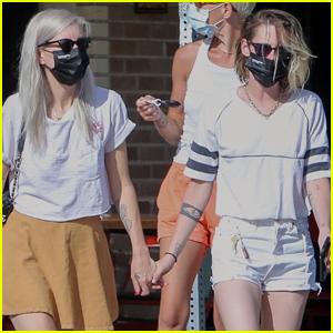 Kristen Stewart & Girlfriend Dylan Meyer Hold Hands During Lunch Outing