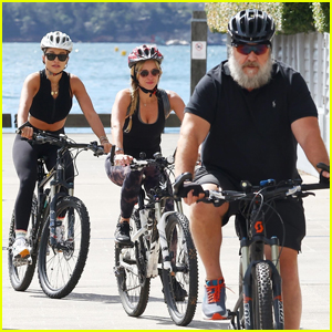 Rita Ora Joins Russell Crowe & Girlfriend Britney Theriot for Bike Ride in Sydney