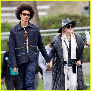 Madonna & Boyfriend Ahlamalik Williams Support Her Son David at His Soccer Game in LA
