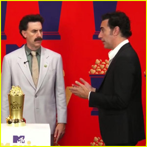 Sacha Baron Cohen Reprises Borat, Ali G, & Bruno While Accepting Comedic Genius Award at MTV Awards 2021 - Watch Now!