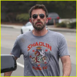 Ben Affleck Shows Off His Muscles As He Picks his Son Up from Swim Practice