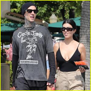 Kourtney Kardashian & Travis Barker Hold Hands While Shopping in Malibu