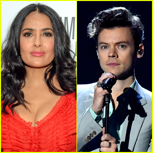 Salma Hayek's Owl Coughed a Rat Hairball on Harry Styles
