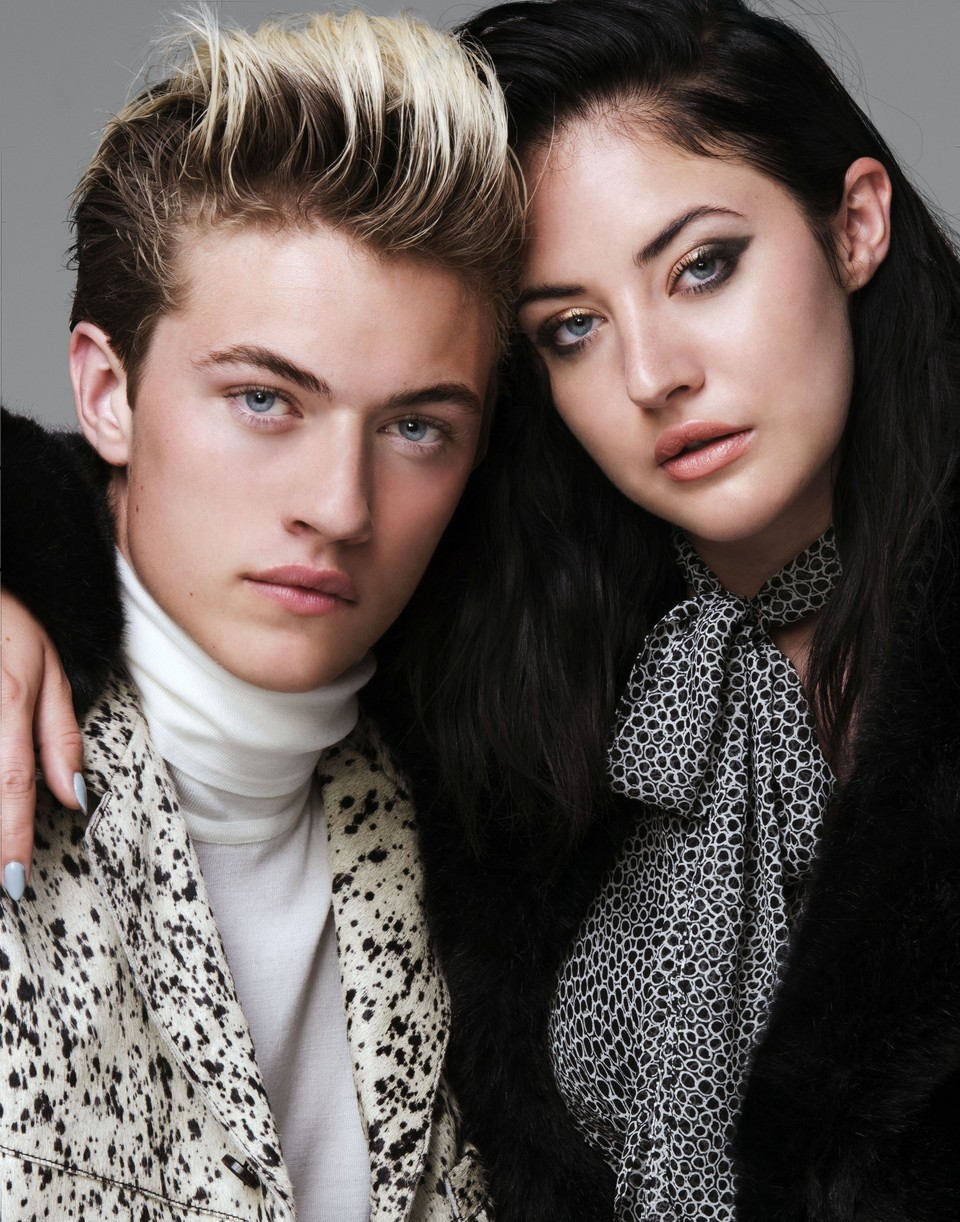 Lucky Blue Smith poses for a photo with sister Starlie Smith